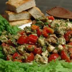 Feta Cheese with Basil Salad Recipe