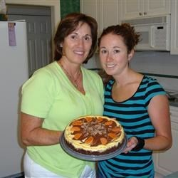 Me and my mom with our Chocolate Orange Cheesecake