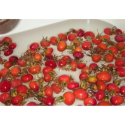 Sink full of rose hips