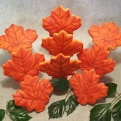 Glazed maple leaves