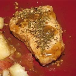 Rosemary & Garlic Simmered Pork Chops