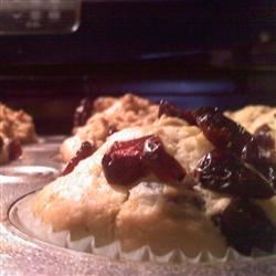Orange Muffins (with cranberry topping)