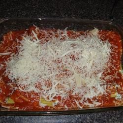 Manicotti- prior to baking