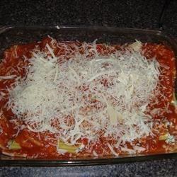 Manicotti- prior to baking