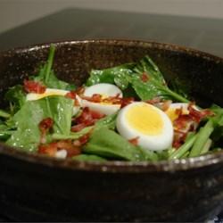 fresh spinach and tarragon salad printer friendly