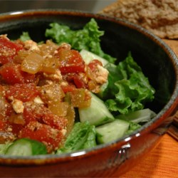 Chickpeas in Tomato Sauce With Feta and Wine Recipe