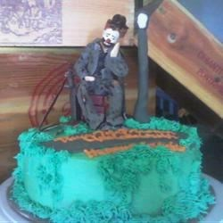Emmett Kelly the Clown on a cake