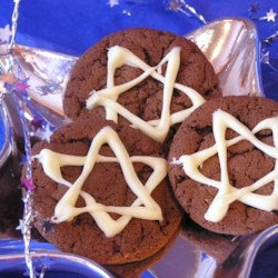 Hannukah Chocolate Mint Cookies