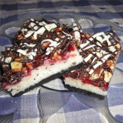 Raspberry Coconut Layer Bars Recipe