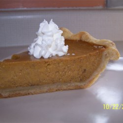 Mrs. Sigg's Fresh Pumpkin Pie Recipe