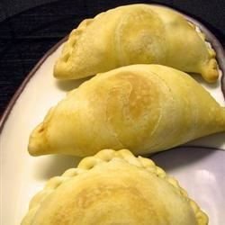 curry puffs with spiral design pastry