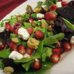Pomegranate Feta Salad with Lemon Dijon Vinaigrette Recipe
