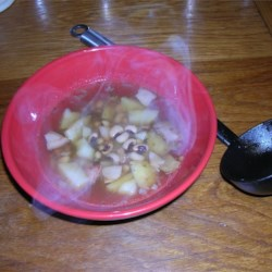 Black-Eyed Pea and Bacon Soup Recipe