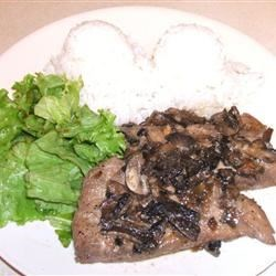 Mahi Mahi with Onions and Mushrooms