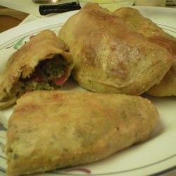 Broccoli, Pepperoni and Three Cheese Calzones