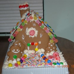 my homemade Gingerbread House