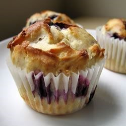 Blueberry Cream Muffins Recipe