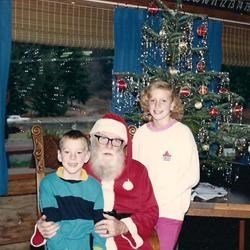 Jimmy and Jenny with Santa