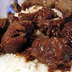 Kicky Steak Strips with Rice Recipe