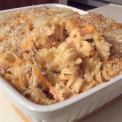 Lobster Mac with Cheddar, Brie, and Gruyere