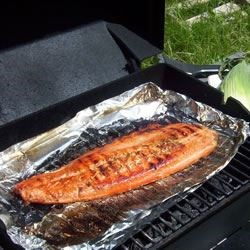 Grilled Salmon I on the BBQ
