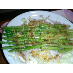 Grilled Asparagus with Orange Wasabi Dressing Recipe