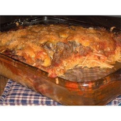 Photo of Spaghetti Pizza Bake by Jackie  Heyer