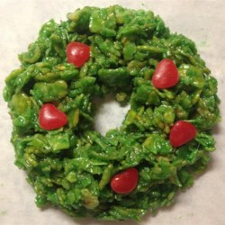 Ingredients No Bake Christmas Wreath Cookies Made With Corn Flakes