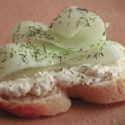 Creamy Dill Cucumber Toasties Recipe