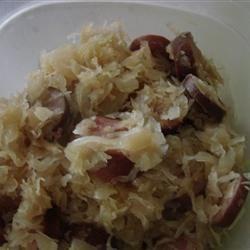 Slow cooker sausage and kraut