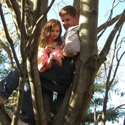 Lili and I in a tree