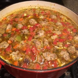 Meatball and Pasta Soup
