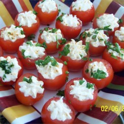 Creamy Shrimp Stuffed Cherry Tomatoes Recipe