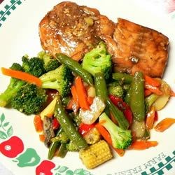 Maple Salmon and Asian Stir Fry