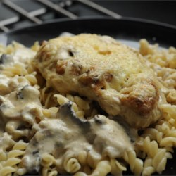 Chicken Gruyere with Sauteed Mushrooms Recipe