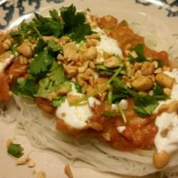 Thai peanut shrimp pasta recipe
