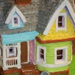 """UP"" Gingerbread/Fondant House Closeup"
