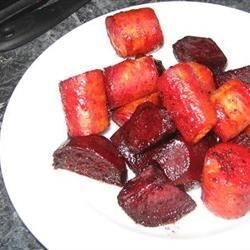 Roasted Glazed Beets and Carrots