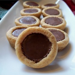 Peanut butter cup thumbprint cookies recipe