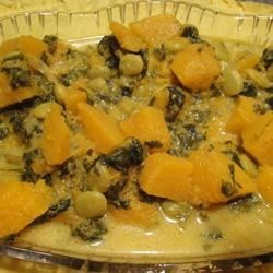 Pumpkin, Butter Bean, and Spinach Curry Recipe