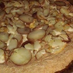 potato and port salut pizza