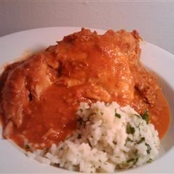 Photo of Chicken with Red Chile Sauce and Sausage (Pollo con Salsa Rojo y Chorizo) by MexicoKaren