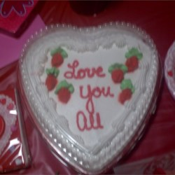 family valentines cake