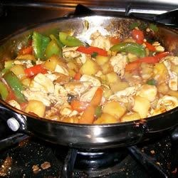 Stir-Fried Chicken With Pineapple and Peppers - Stovetop