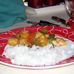Stir-Fried Chicken With Pineapple and Peppers - Table