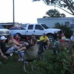 The Crew..weekly cookout in Louisiana