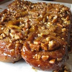 Pumpkin Brioche - made into sticky buns