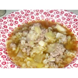 Coriander, Barley, Leek Soup Recipe