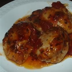 Grilled Chicken with Salsa Barbecue Sauce Recipe