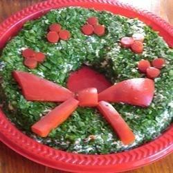 Spinach Dip Wreath